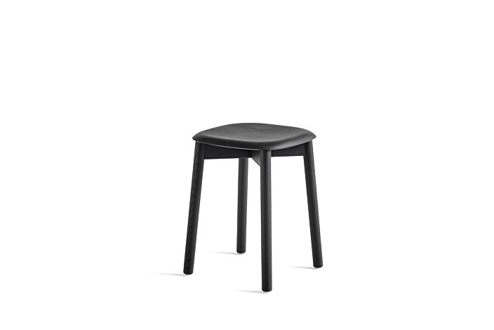 928301_Soft Edge 72 Stool_Base soft black stained oak_Seat soft black stained oak