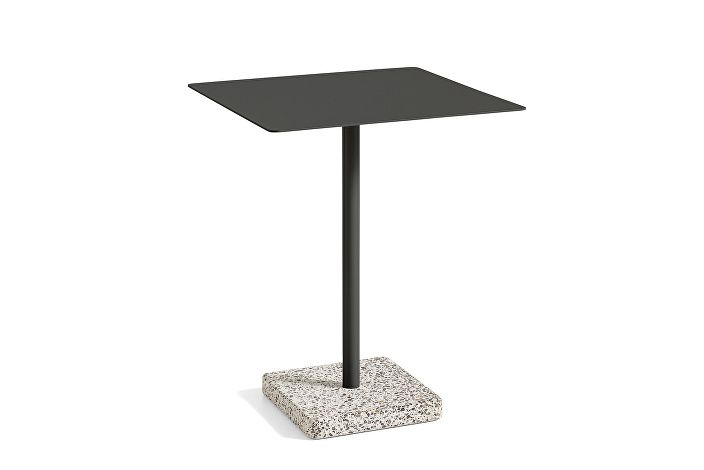 1952532009000_Terrazzo Table Square_60x60_Grey base_Anthracite tabletop