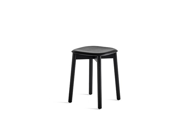 928317_Soft Edge 72 Stool_Base black stained oak_Seat black stained oak