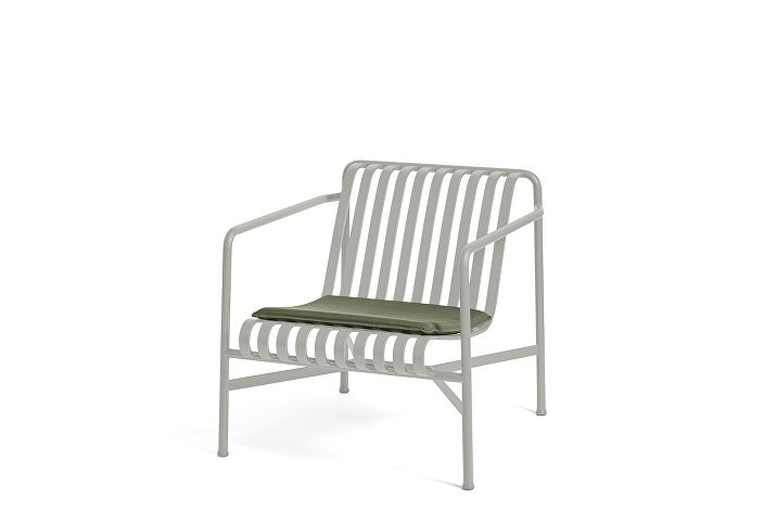 Palissade Lounge Chair Low Sky Grey_Seat Cushion Olive