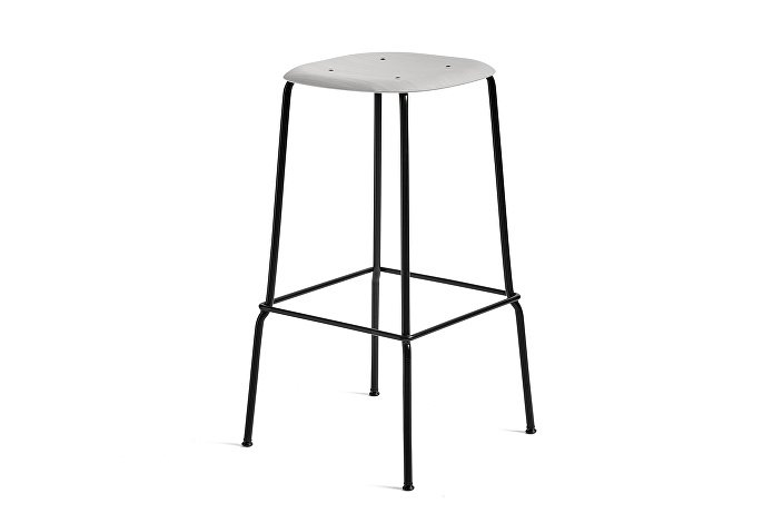 1991411359000_Soft Edge 30 Bar Stool high_H75_Base black_Seat soft grey