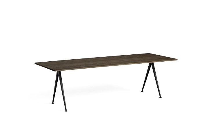 1955172009000_Pyramid Table 02_L250xW85_Frame black_Top oak smoked oiled