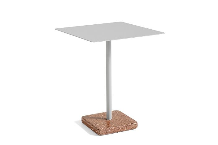 1952511009000_Terrazzo Table Square_60x60_Red base_Sky grey tabletop