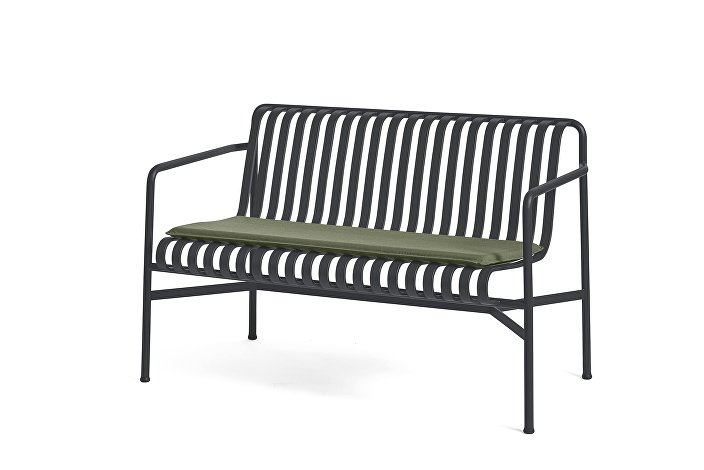 Palissade Dining Bench Anthracite_Seat Cushion Olive