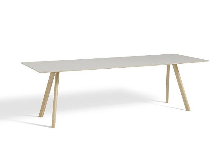 1043032039000_CPH30 L250xW90_Matt lacquer oak base_Off white lino