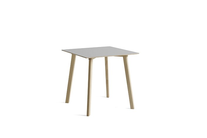 8090111109000_CPH Deux 210 Table_L75xW75xH73_Beech untreated raw plywood edge base_Dusty grey laminate