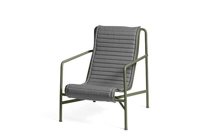 Palissade Lounge Chair High Olive_Quilted Cushion Anthracite