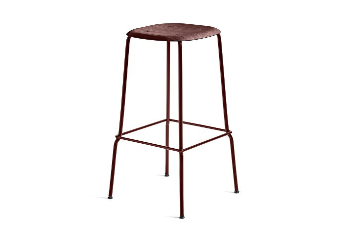 1991491409000_Soft Edge 30 Bar Stool high_H75_Base fall red_Seat oak fall red stained
