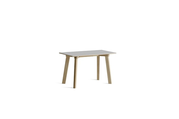 8091291109000_CPH Deux 215 Bench_L75xW35xH45_Beech untreated raw plywood edge base_Dusty grey laminate