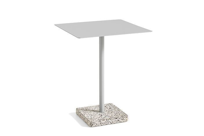 1952531009000_Terrazzo Table Square_60x60_Grey base_Sky grey tabletop