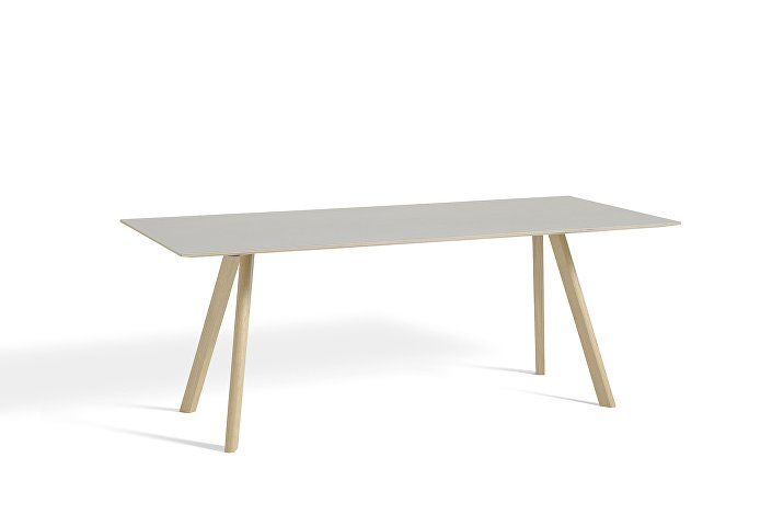 1043012039000_CPH30 L200xW90_Matt lacquer oak base_Off white lino