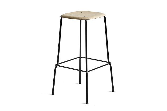 1991411109000_Soft Edge 30 Bar Stool high_H75_Base black_Oak matt lacquer