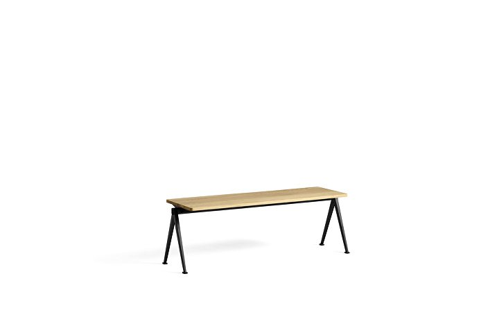 1955551009000_Pyramid Bench 11_L140xW40_Frame black_Top oak clear lacquered