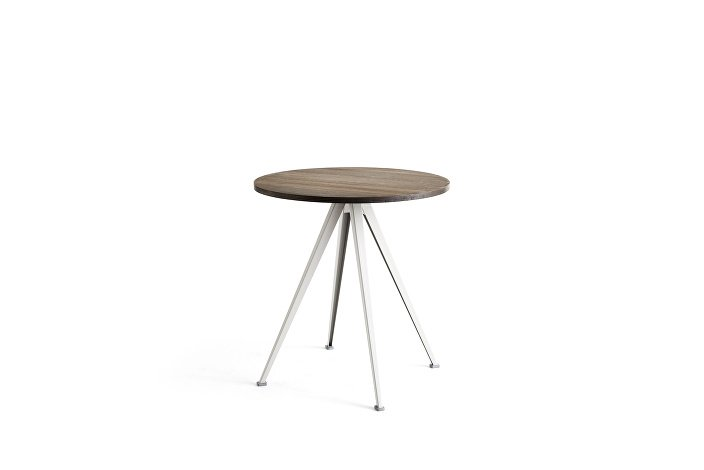1959172009000_Pyramid Cafe Table 21_dia70_Frame beige_Top smoked oiled_wb