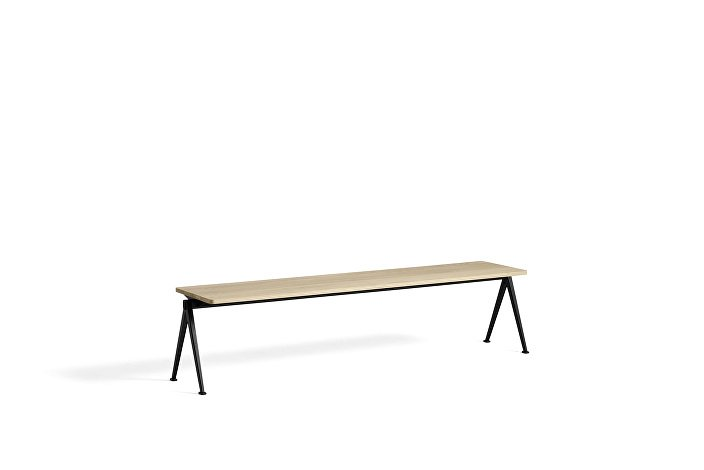 1955631509000_Pyramid Bench 11_L200xW40_Frame black_Top oak matt lacquered