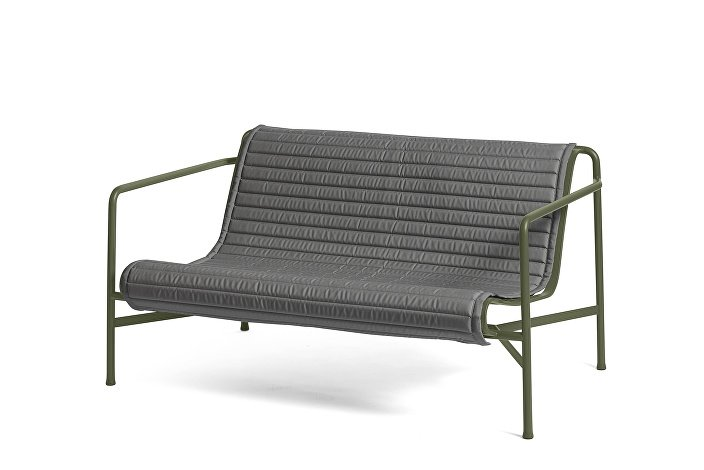 Palissade Lounge Sofa olive_Quilted Cushion Anthracite
