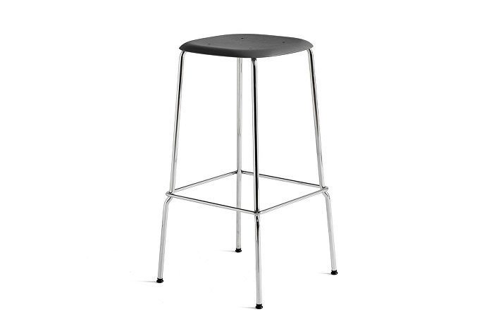 1991711009000_Soft Edge 30 Bar Stool high_H75_Base chromed steel_Seat oak soft black stained