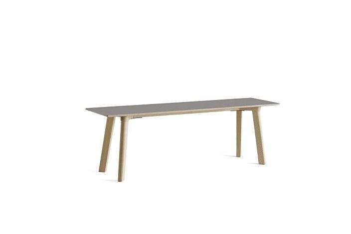 8091311009000_CPH Deux 215 Bench_L140xW35xH45_Beech untreated raw plywood edge base_Beige grey laminate