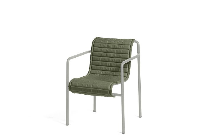 Palissade Dining Arm Chair Sky Grey_Quilted Cushion Olive