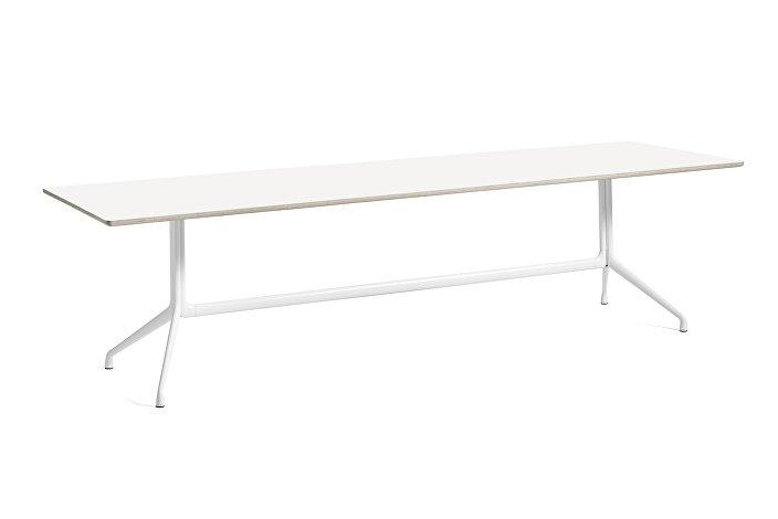1933342009000_AAT10 Table_L280xW90xH73_White laminate tabletop_white frame