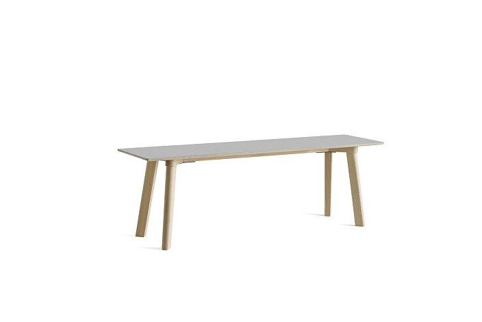 8091311109000_CPH Deux 215 Bench_L140xW35xH45_Beech untreated raw plywood edge base_Dusty grey laminate