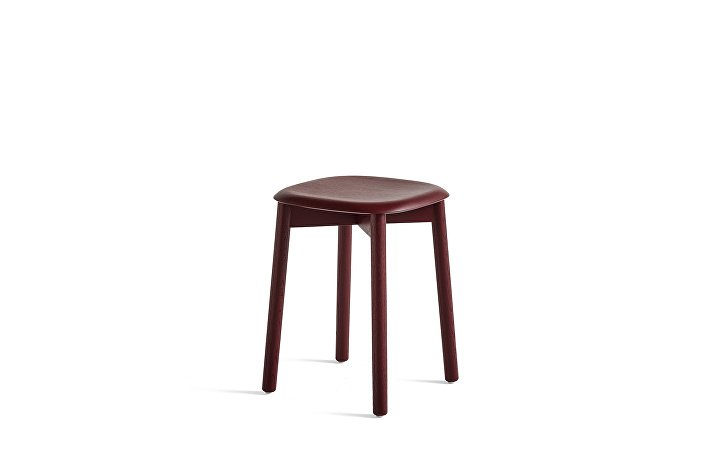 928357_Soft Edge 72 Stool_Base fall red stained oak_Seat fall red stained oak