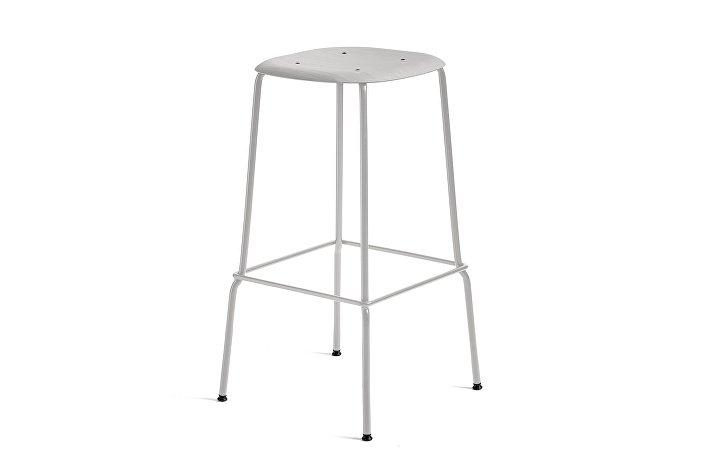 1991451359000_Soft Edge 30 Bar Stool high_H75_Base grey_Seat soft grey