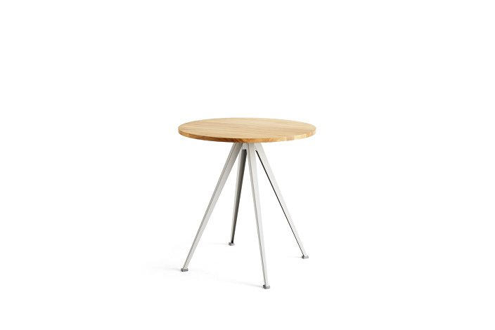 1959172509000_Pyramid Cafe Table 21_dia70_Frame beige_Top oiled oak_wb