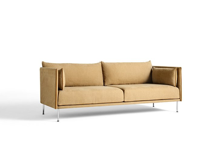 930709 Silhouette 3 seater low chrome base_uph Linara Spice_piping leather Silk cognac_WB