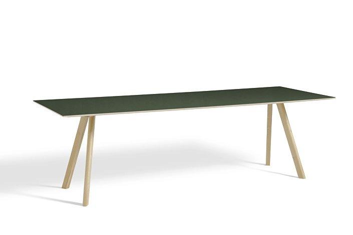 1043032049000_CPH30 L250xW90_Matt lacquer oak base_Green lino