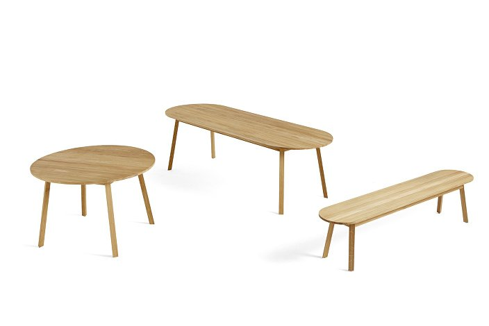 Triangle Leg Table_Triangle Leg Bench_Family