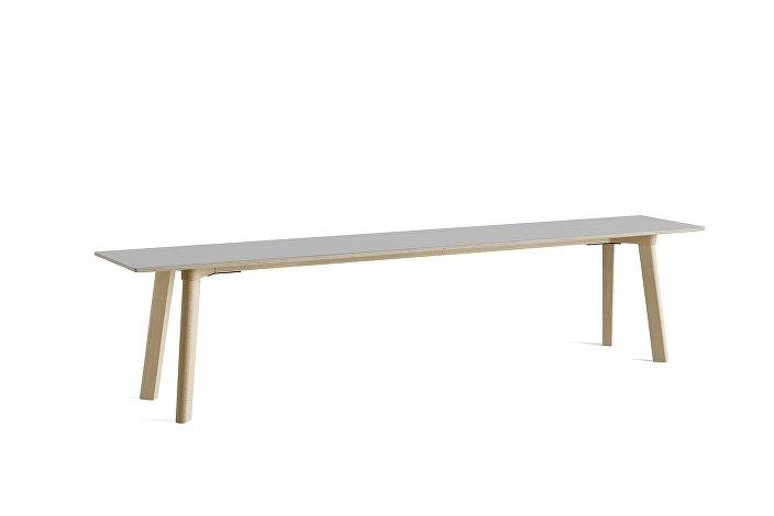 8091331109000_CPH Deux 215 Bench_L200xW35xH45_Beech untreated raw plywood edge base_Dusty grey laminate