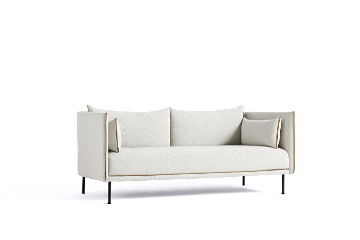 Silhouette Sofa 2 seater Low uph Coda 100_black leather_wb