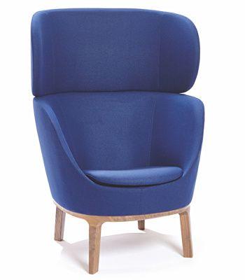 Dixi club chair with oak base