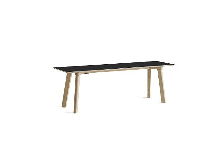 8091311409000_CPH Deux 215 Bench_L140xW35xH45_Beech untreated raw plywood edge base_Ink black laminate