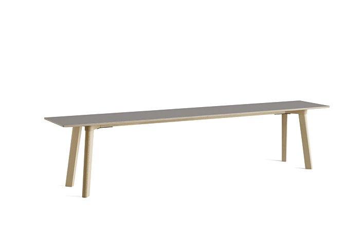 8091331009000_CPH Deux 215 Bench_L200xW35xH45_Beech untreated raw plywood edge base_Beige grey laminate