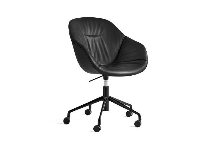 9354976105716_AAC 153 Soft Chair w. gas Silk SIL0842_black 5 star swivel base