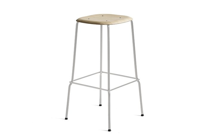 1991451109000_Soft Edge 30 Bar Stool high_H75_Base grey_Seat oak matt lacquer