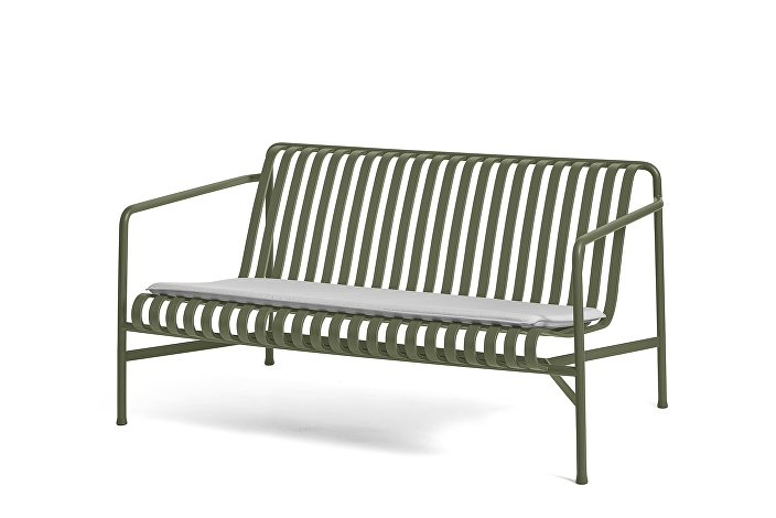 Palissade Lounge Sofa olive_Seat Cushion Sky Grey