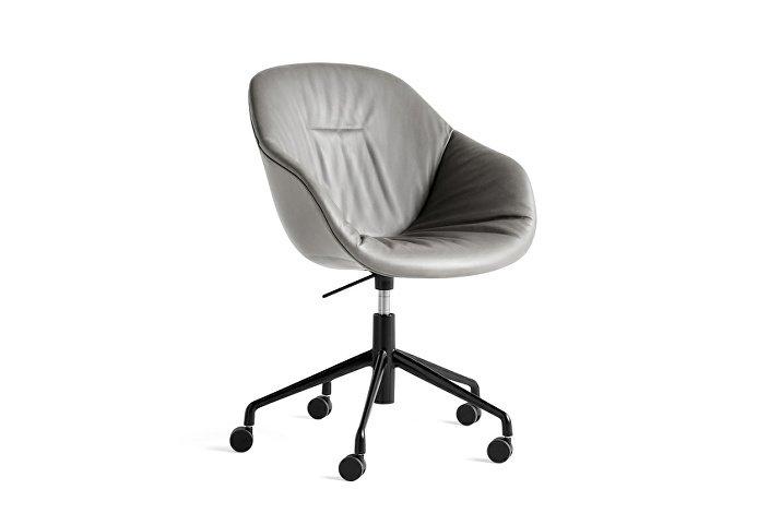 9354976105715_AAC 153 Soft Chair w. gas Silk SIL0855_black 5 star swivel base