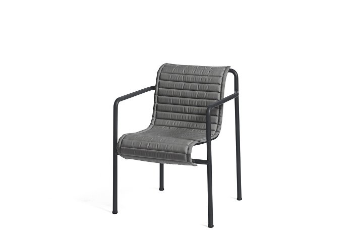 Palissade Dining Arm Chair Anthracite_Quilted Cushion Anthracite