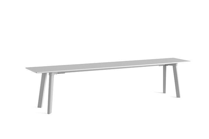 8091531009000_CPH Deux 215 Bench_L200xW35xH45_Dusty grey plywood edge_Dusty grey laminate